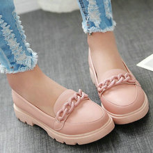 Size 34-43 Classic Ladies Autumn Shoes Round Toe Heel Woman Flat Shoes PU Leather White Women Ballet Flats