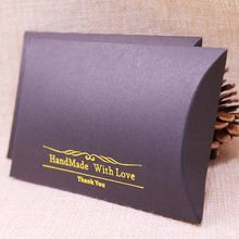 50 Pcs Diy Black Pillow box Wedding Favour Gift Box Baby Shower Packing box HandMade With