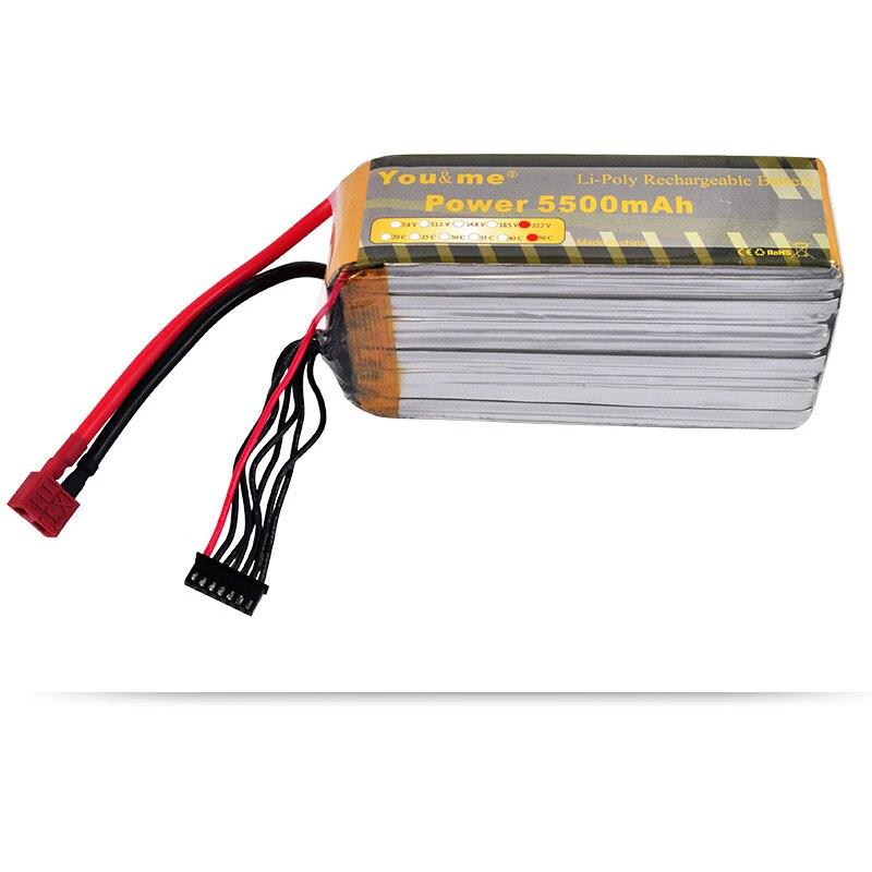 You&me T-REX 600/700 Lithium Polymer 6s Battery 5500mah 22.2V 50C Burst 100C For RC Helicopters FPV Drone AKKU Quadcopter Car сызранова в е ред me to you мишкина книжка