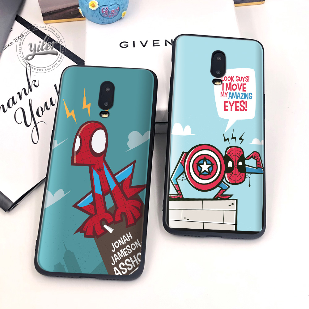 Spiderman parallel unive Coque For Oneplus 6T 7 Case Black Soft Silicone Cover for Funda 1+6T Cases Capa