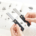Канцелярские принадлежности 5 шт./лот, канцелярские товары, студенческий художественный нож, черный и белый складной универсальный нож, пор...