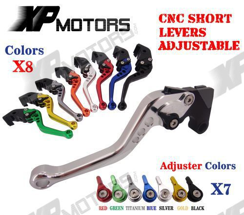 CNC Short Adjustable Brake Clutch Levers For MOTO GUZZI BREVA 750 2004-2009 adjustable cnc aluminum clutch brake levers with regulators for moto guzzi breva 1100 2006 2012 1200 sport 07 08 09 10 11 12 13