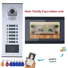 MOUNTAINONE 7inch Wired Video Door Phone Intercom System