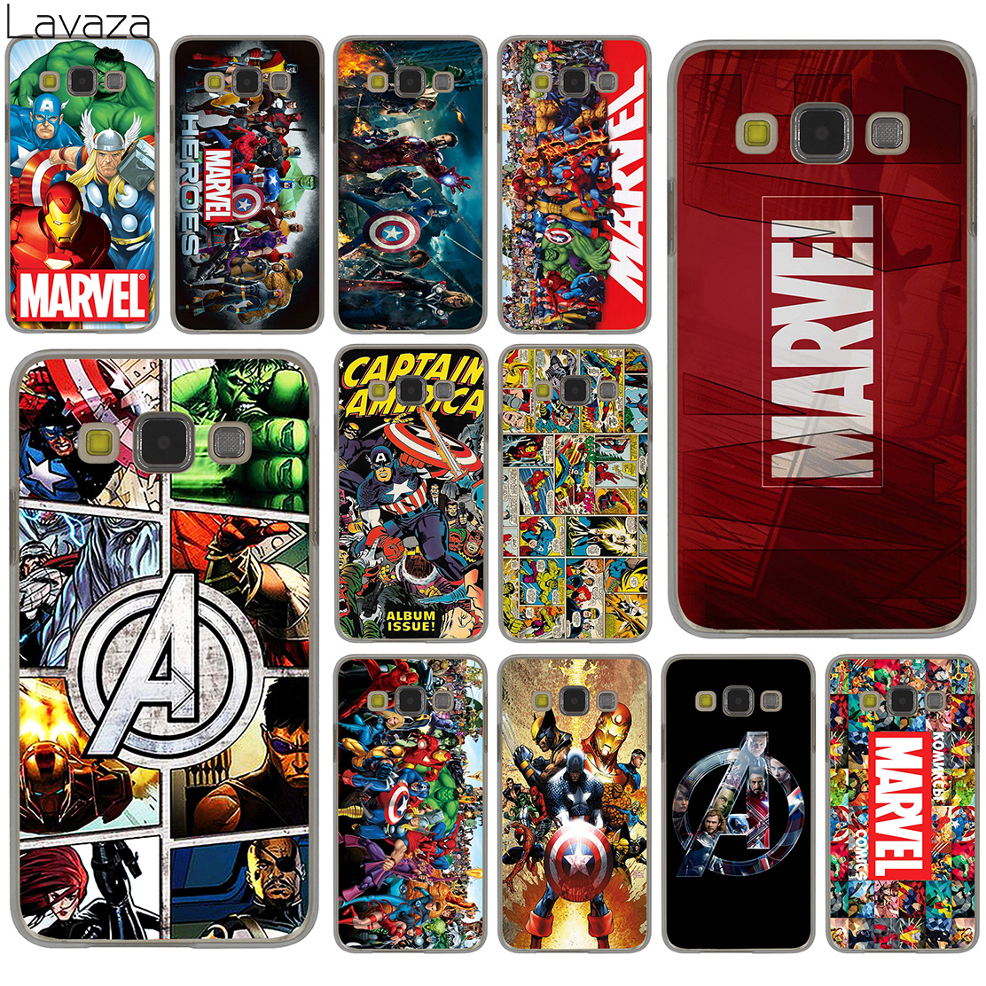 official photos db412 e79bc US $1.71 33% OFF|Lavaza Marvel Superheroes The Avengers Hard Case for  Samsung Galaxy S10 S10E S8 Plus S6 S7 Edge S9 Plus Phone Cover-in  Half-wrapped ...