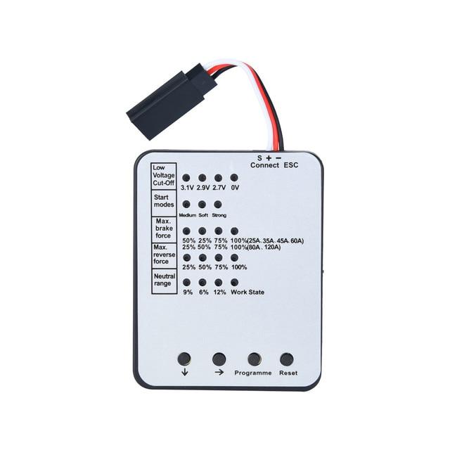 Tarjeta de programación para coche RC ESC sin escobillas controlador electrónico de velocidad