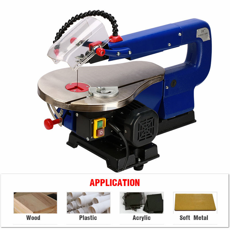 MQ5II 16inch Scroll Saw RCIDOS Mini table saw/Desktop DIY wood Curve Cutting machine,Pla ...