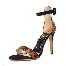Summer New Sandals High Heel Open Toe Leopard Color Dress Shoes For Ladeis Fashion Heel Strap Sandals 600F1243 -5