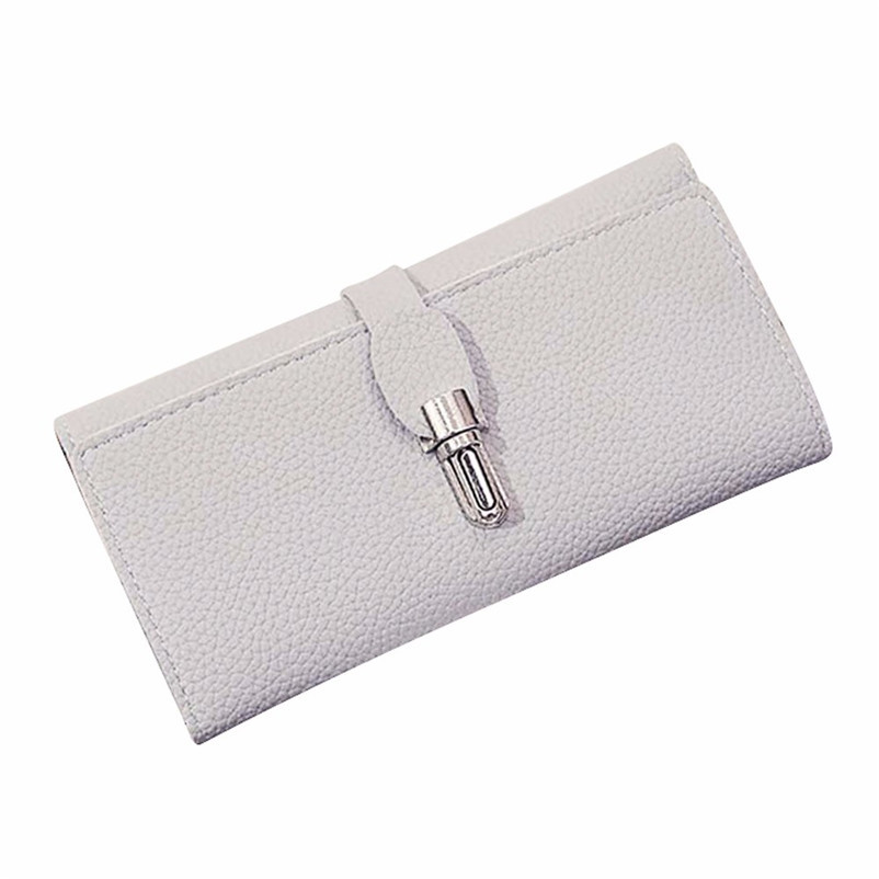 2018 Hot Women Lock Buckle Coin Purse Long Wallet Card Holders Handbag Female High Grade Proxy Purchase Female Fashion Purses A8