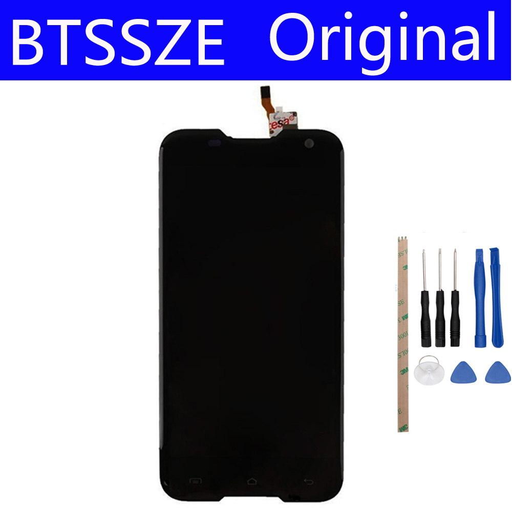 high quality lcd display + touch screen sensor glass replacement digitizer assembly for blackview bv5000 with sickers