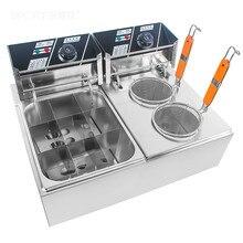 Электрические фритюрницы коммерческий Электрический хот и пряный горшок строка ароматный снэк-оборудование лапша суп