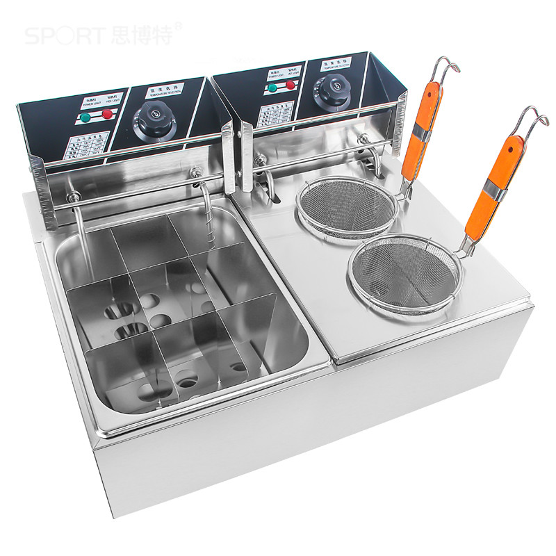 Elektrische Friteusen Kommerziellen elektrische heißer und würzigen topf string von duftenden snack ausrüstung Fried nudel suppe