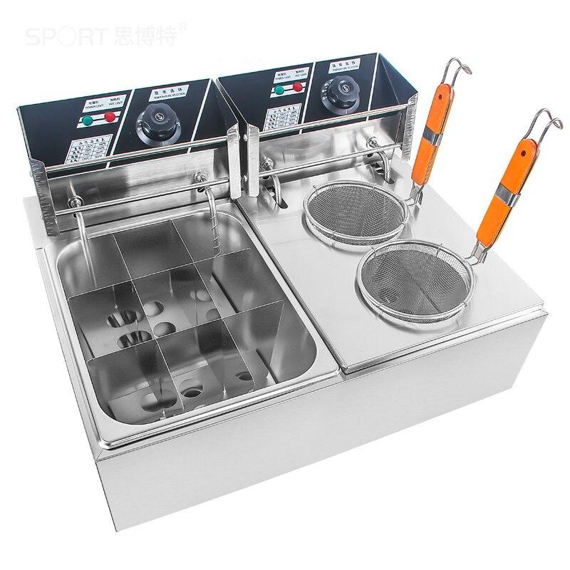 Friteuses Électriques Commerciale électrique chaude et pot épicé chaîne de parfumé collation équipements Frit soupe de nouilles
