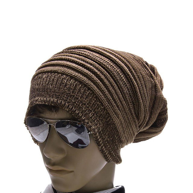 4bcaf3c2149 2017 Hot Style Coffee Khaki Mens CuteThick Knit Warmer Ribbing Cuff Beanie  Hatfor Men Gift