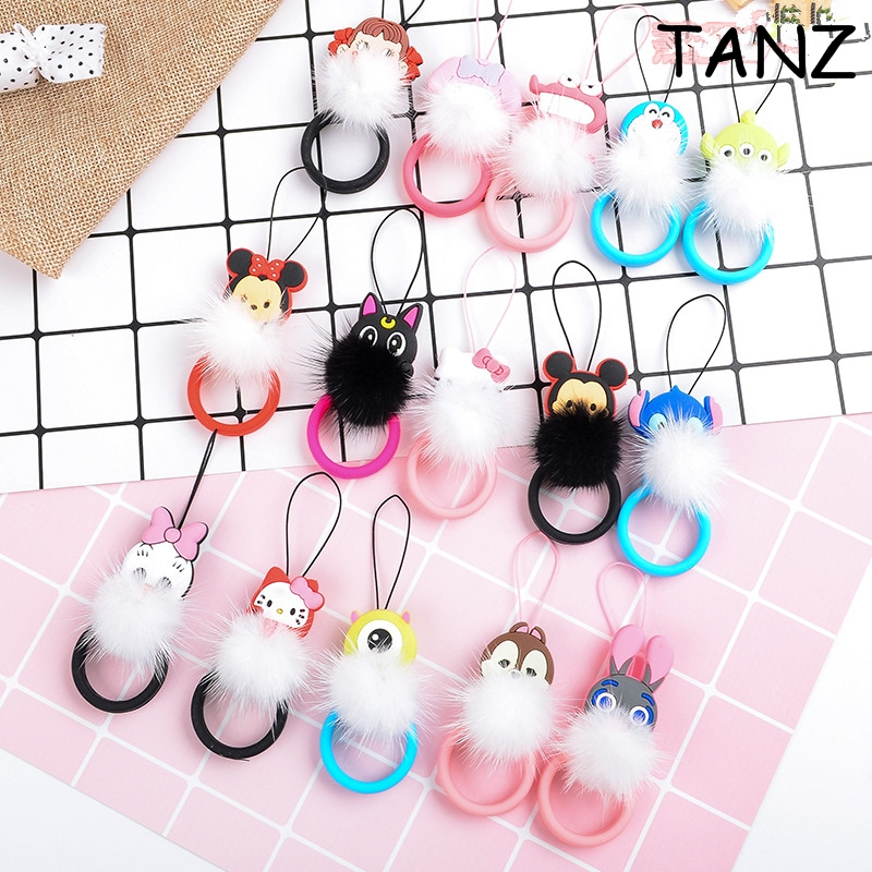Mini Cute Cartoon Plush Soft silicone Cell Phone Strap Lanyard Universal Hand Ring for Mobile Phone Camera Key USB for iphone 7