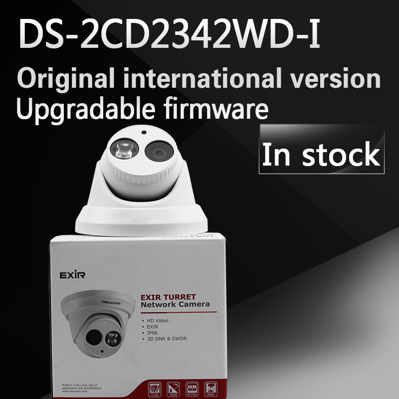 free shipping In stock English version of DS-2CD2342WD-I, 4MP WDR EXIR Turret Network Camera free shipping in stock new arrival english version ds 2cd2142fwd iws 4mp wdr fixed dome with wifi network camera