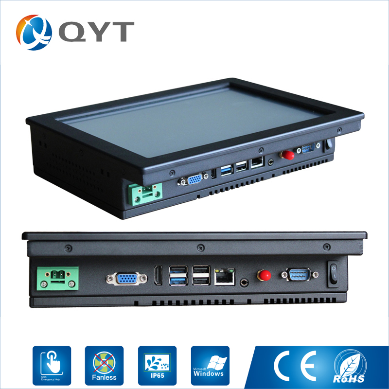Fanless Industrial Panel pc 4*USB 10-inch Intel J1900 2.0GHz Touch Panel Support Win7/8/10 8 4 inch plc control hmi front panel industrial embedded panel pc