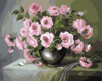 Pink Rose Painting By Numbers No Frame Pictures Wall Art Home Decor For Living Room Painting