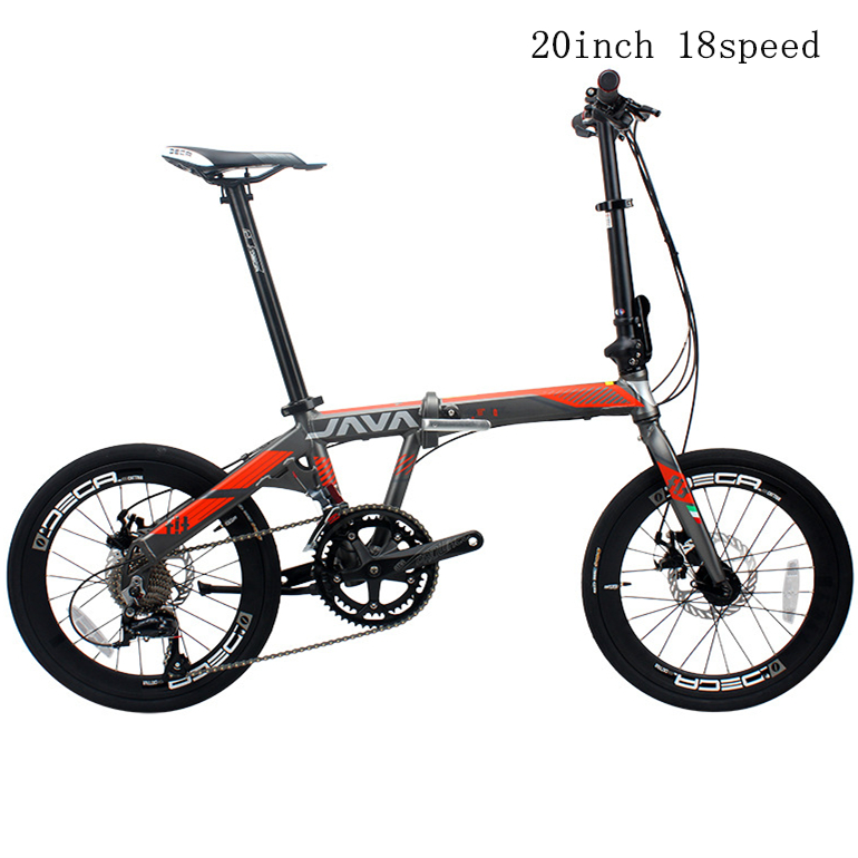 Folding Bike Aluminum Alloy 20 Inch 9S 18 Speed Double Disc Brakes Adult Unisex Foldable Urban High Quality Bicycle