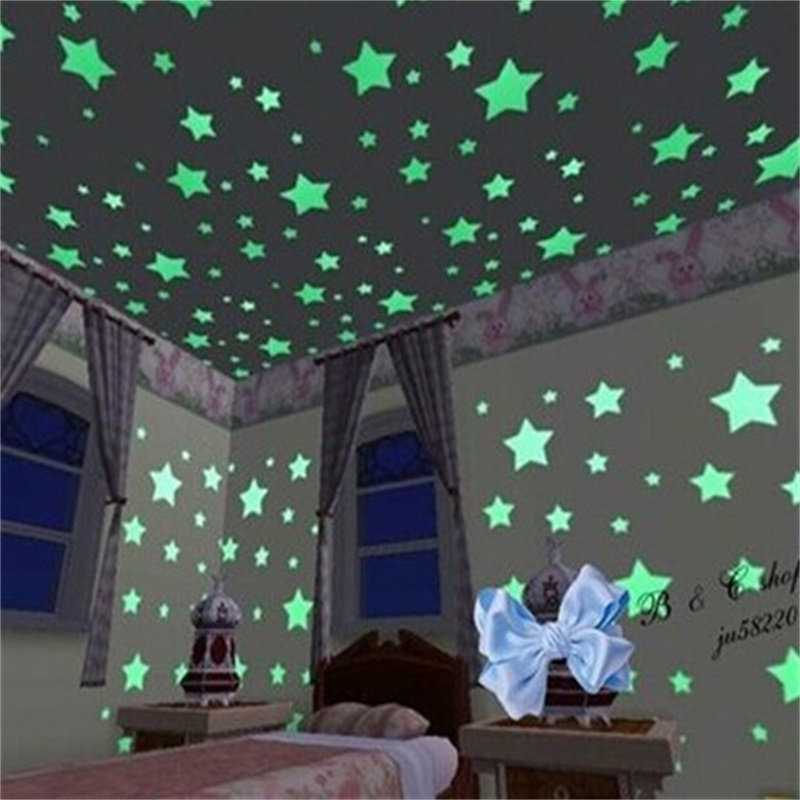 100 /80 PCS Star Wall Decals Little Prince Wall Stickers Star Home Decor  For Kids Baby Rooms Mirror Wall Stickers Little Prince