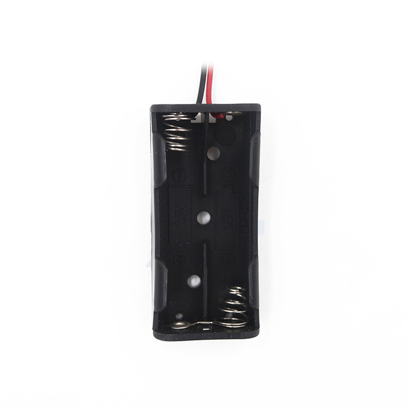5Pcs/lot Hot sell Plastic 3V 2 AAA Battery Holder Case with Red and Black Wire Leads
