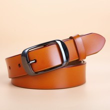 Genuine Leather Pin Buckle Belt For Women – 6 Colors