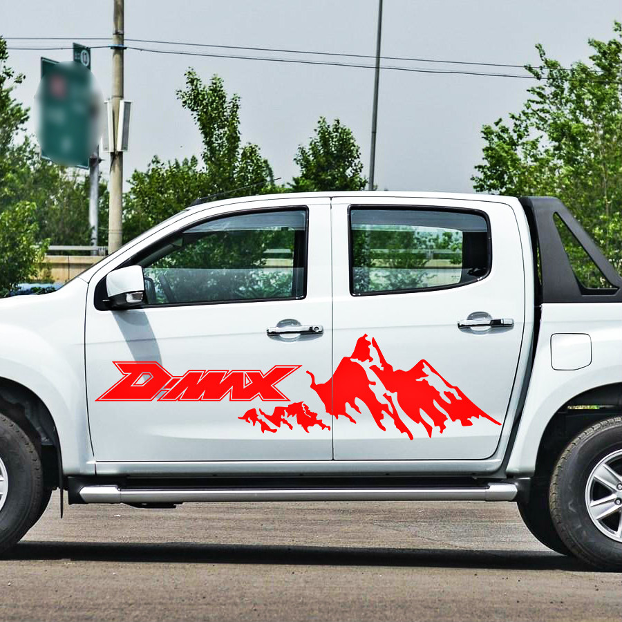 pickup car body stickers side door stripe moutain off road graphic Vinyl car sticker for d