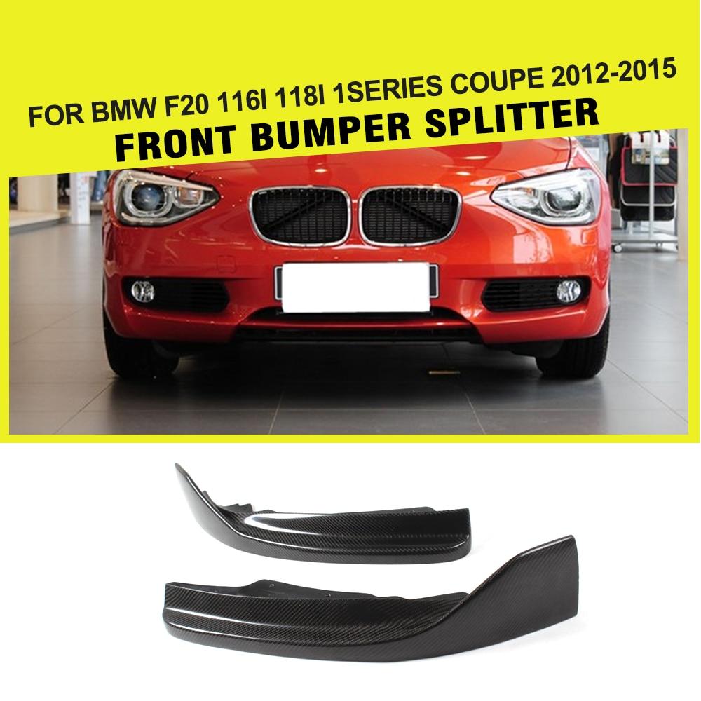 Front Bumper Lip Splitter Apron Winglets for BMW F20 116i 118i 1Series Coupe 2012 - 2015 Carbon Fiber Car-stylingFront Bumper Lip Splitter Apron Winglets for BMW F20 116i 118i 1Series Coupe 2012 - 2015 Carbon Fiber Car-styling