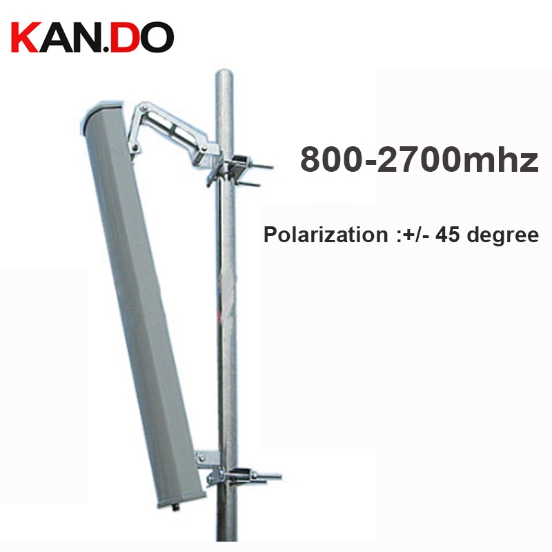 2G 3G 4G booster antenne 15dbi double polarisation +/-45 degrés 800-2700 Mhz panneau antenne Base station utiliser 2G 3G 4G antenne