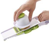 Free Shipping Dicer Slicer Potato Carrot Dicer Salad Maker Assistant 5 Blades Multi Mandoline Vegetable Slicer