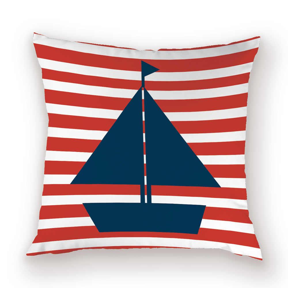 مرساة بحرية قارب الملونة رمي الوسائد حالة بحري الشمال ديكور وسادة تغطي البحرية البحر ديكور المنزل وسادة أريكة حالات