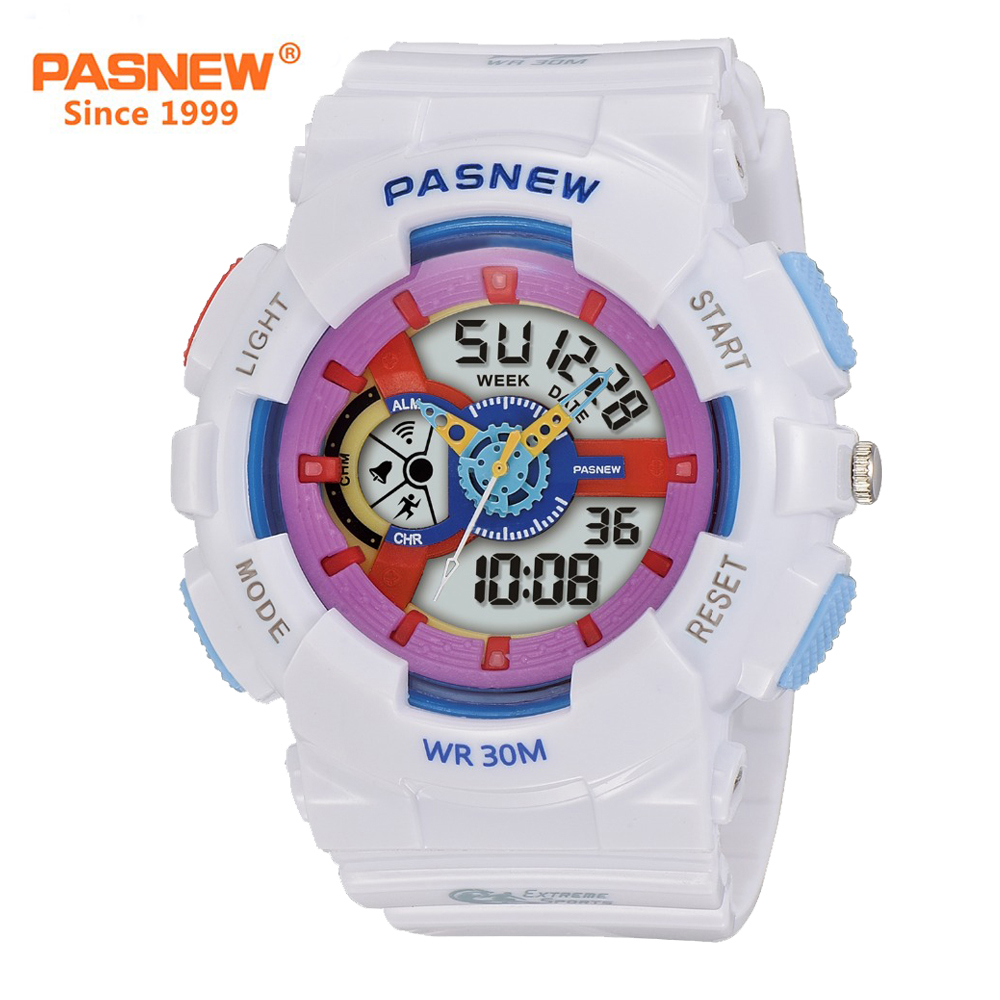 Men's Watches Pasnew Mens Digital Watch Waterproof 50m Outdoor Sports Wrist Watches With Multi-function Pse251b