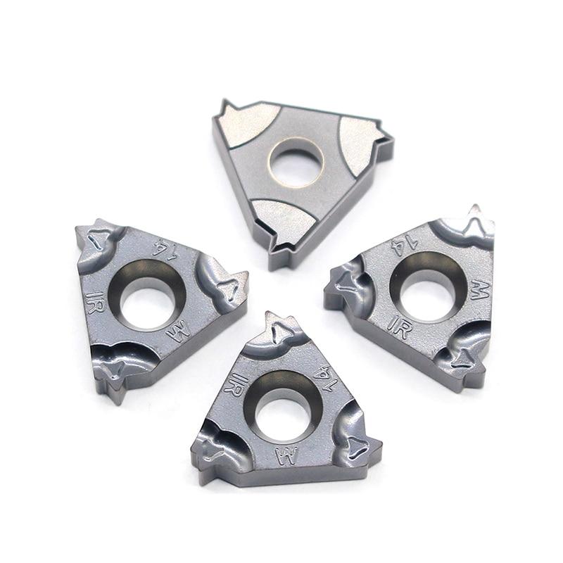 Купить с кэшбэком 16IR 16ER 14W 11W 19W IC908 55angle Thread turning tool Tungsten Carbide Insert Original Threading Lathe Cutter Tool 16ERM 16IRM