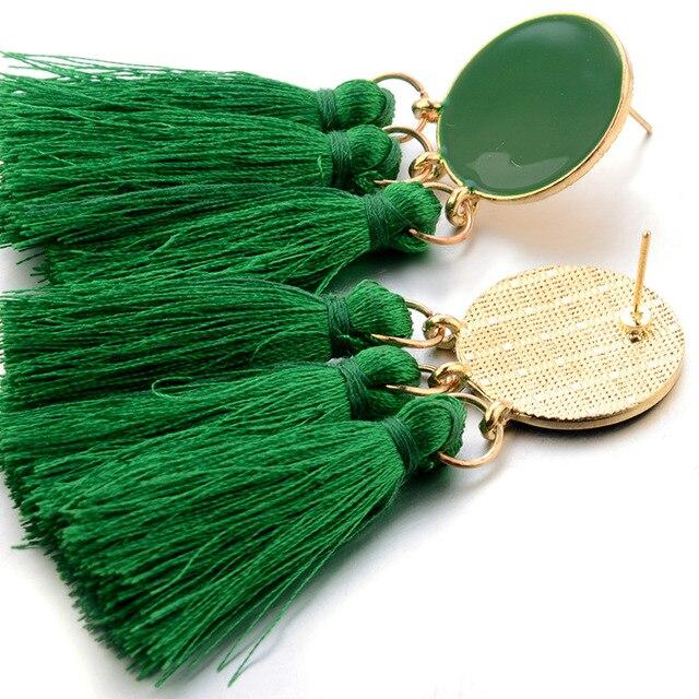 Купить naomy и zp кисточкой серьги круглые этнические длинные в богемном