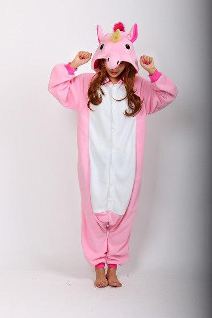 87c97c789d94 Adult Unisex Fleece Animal Unicorn Onesies Novelty Pajamas Pyjamas Jumpsuit  Nightwear Carnival Costumes For Women Men