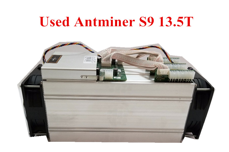 Used AntMiner S9 13.5T Bitcoin Miner Asic BTC BCH Miner Better Than WhatsMiner M3 M10 T9+ Ebit E9 Avalon 921 841 V9 S7 цена 2017