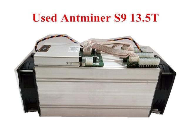 Used AntMiner S9 13.5T Bitcoin Miner Asic BTC BCH Miner Better Than WhatsMiner M3 M10 T9+ Ebit E9 Avalon 921 841 V9 S7