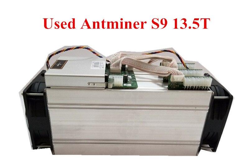 Utilizzato AntMiner S9 13.5 t Bitcoin Minatore Asic BTC BCH Minatore Meglio di WhatsMiner M3 M10 T9 + Ebit E9 avalon 921 841 V9 S7