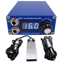 Tattoo Power Supply Set Kit LCD Display Double Ourput Digital Tattoo Power Supply Foot Pedal Switch