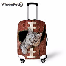 WHOSEPET 3D Cat Case Cover Femmes Housse de protection pour valise Hommes Voyage Luggage Cover Stretch to 18 '' - 30 '' Housses de protection Cute