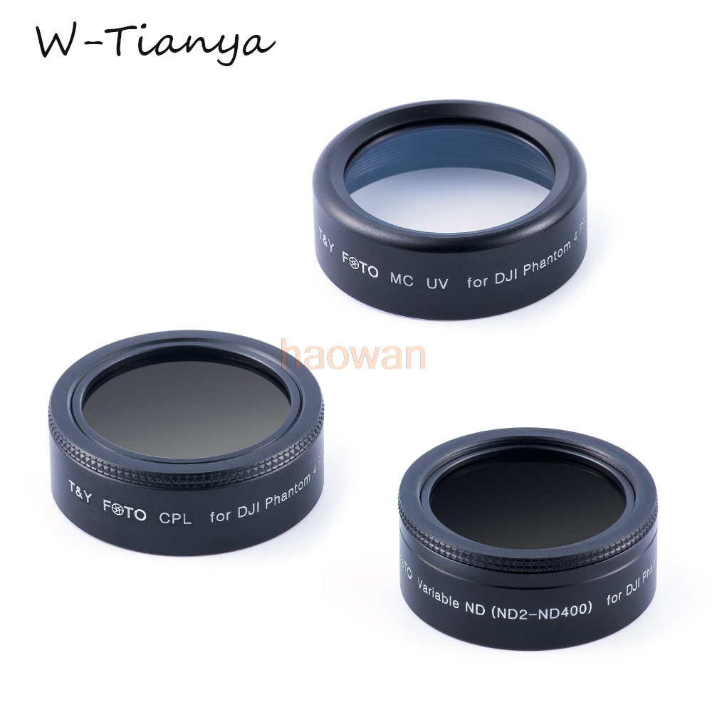 wtianya cpl mcuv ND2 ND400 Lens Filter Protector for DJI phantom 4 pro advance camera