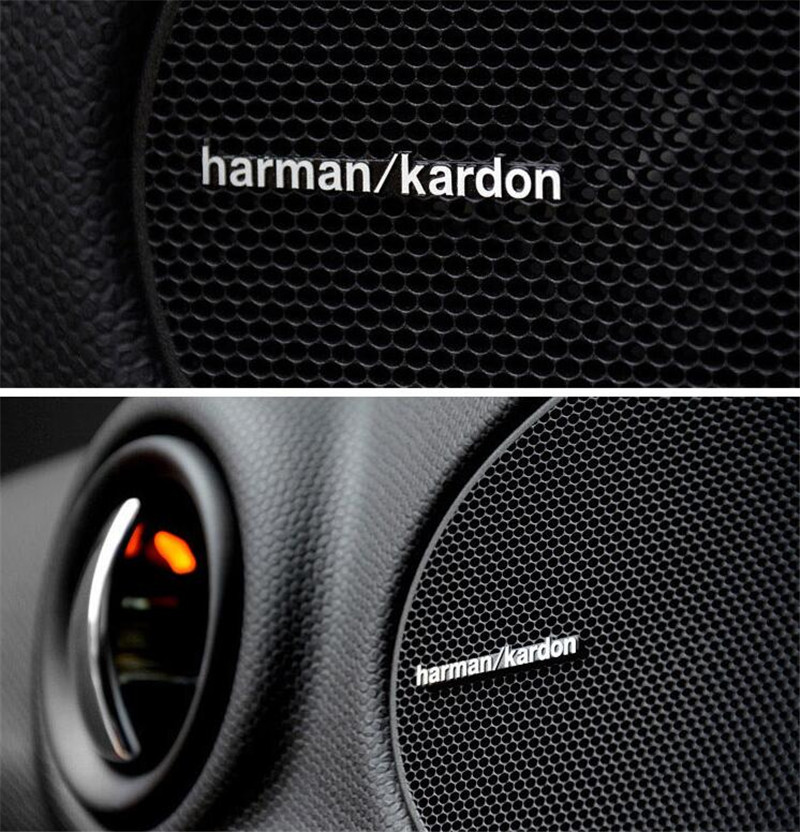 Автомобиль внутренние Аксессуары для мотоциклов стайлинга автомобилей Аудио Акустическая система Harman/Kardon с наклейками