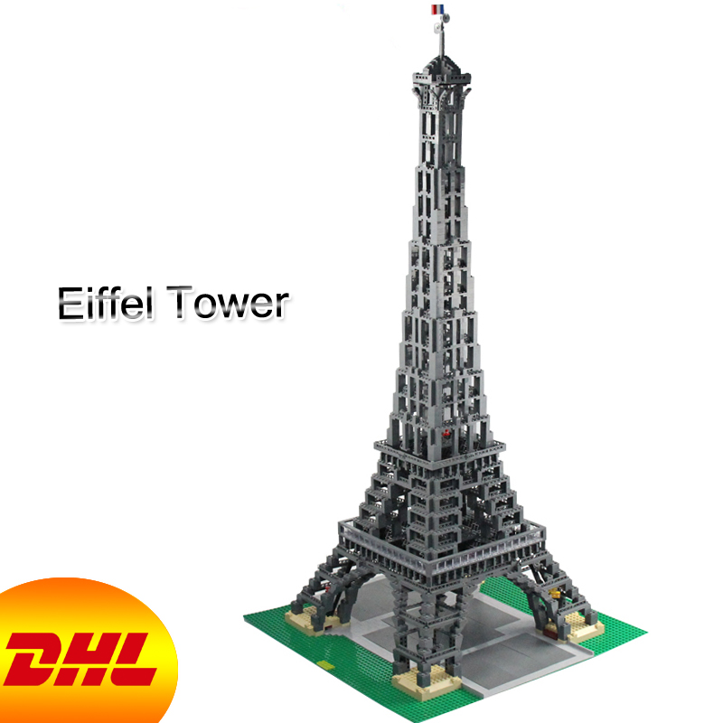 HF City Street Figures 3478Pcs The Paris Eiffel Tower Model Building Kits Blocks Bricks Toys For Children Compatible With 10181 10646 160pcs city figures fishing boat model building kits blocks diy bricks toys for children gift compatible 60147