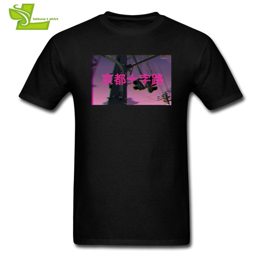 Big Size   T  -  Shirts   Vaporwave Japan Japanese Men's   T     Shirts   Male Round Neck Short Sleeve Tee   Shirt   Hip Hop Men's Cotton
