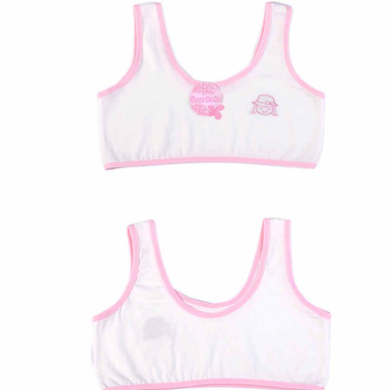 Crianças roupa interior modelo 100% algodão meninas tanque topo doce cor undershirt meninas singlet bebê camisola sutiã topos esporte cuecas