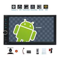 Android 7.1 Octa Core 7'' Car Stereo 2 Din Radio GPS Navigation Support WiFi/USB/SD/SW/Bluetooth+Remote Control&Backup Camera