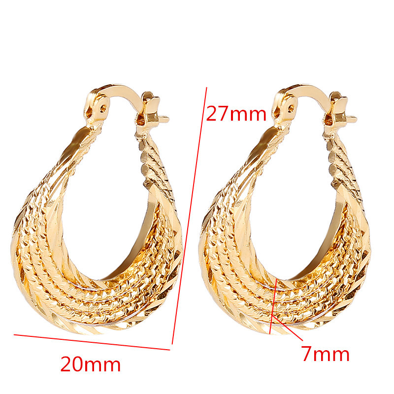 Bangrui Top Quality Gold Color Ear Hook Stud Earrings Jewelry For ...
