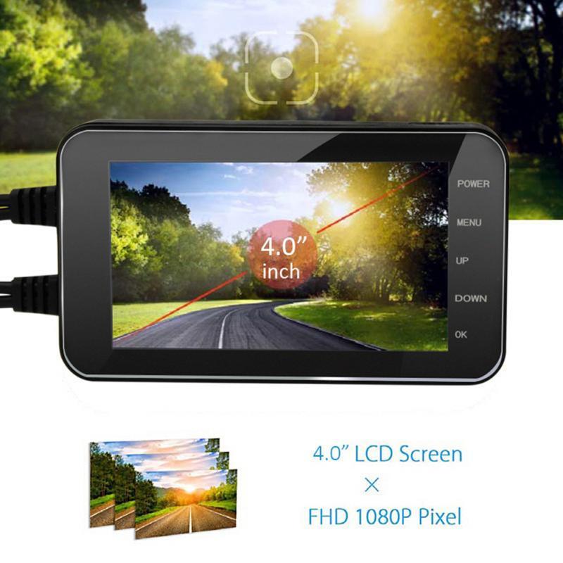 Étanche véhicule Dash Cam caméra numérique pièces LCD affichage enregistreur vidéo facile à installer conduite pratique sûr moto DVR