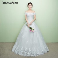 Darlingoddess Robe De Mariage Elegant Luxury Lace Wedding Dress Off Shoulder Beading A Line Wedding Dress
