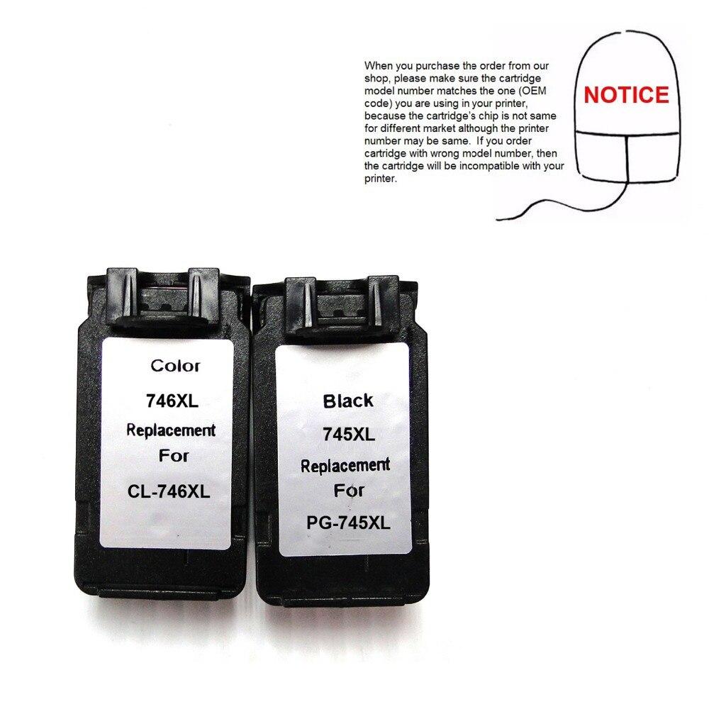YOTAT 1 set gereviseerde inktcartridge PG745 CL746 PG-745 PG745XL - Office-elektronica