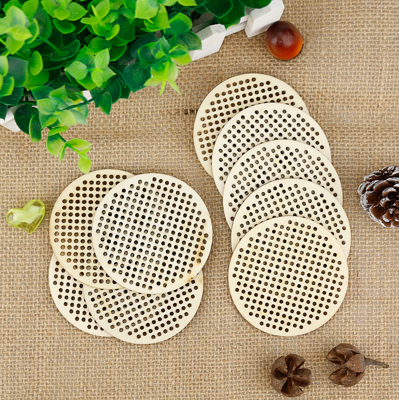 20pcs Mini Embroidery Hoop 6.5cm Circle Wooden Cross Stitch Chip Handmade Craft DIY Accessories Wooden DIY Package